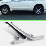 Вставка порога серебристая для Toyota Prado 150 (2018 - ... )