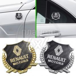 Эмблема герб карбон Renault