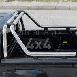 Дуга в багажник хром Ролл-Бар Toyota Hilux (2006 - 2015)