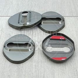 Накладки на петли замков черные Honda Civic (2006 - ...)