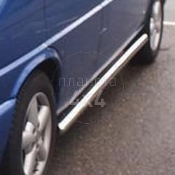 Боковые пороги (трубы) Volkswagen Transporter T4 (92 - 2003) (TT4-11, Турция)